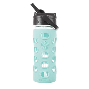 Lifefactory Glass Water Bottle 350ml - Straw Cap-Home & Garden > Kitchen & Dining > Food & Beverage Carriers > Water Bottles-Eqo Online
