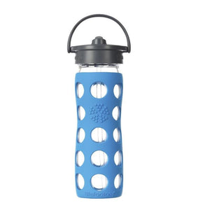 Lifefactory Glass Water Bottle Straw Cap 475ml-Home & Garden > Kitchen & Dining > Food & Beverage Carriers > Water Bottles-Eqo Online