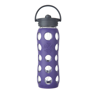 Lifefactory Glass Water Bottle Straw Cap 650ml-Home & Garden > Kitchen & Dining > Food & Beverage Carriers > Water Bottles-Eqo Online