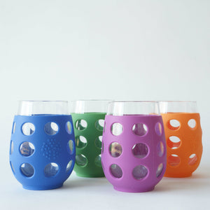 Lifefactory Large Glasses (500ml) - 4 pack-Home & Garden > Kitchen & Dining > Tableware > Drinkware > Coffee & Tea Cups-Eqo Online