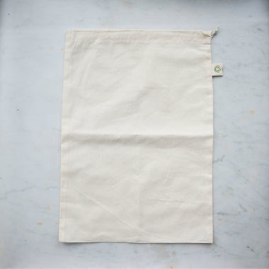 Organic Cotton Produce Bag - Large-Home & Garden > Household Supplies > Storage & Organization > Household Storage Bags-Eqo Online