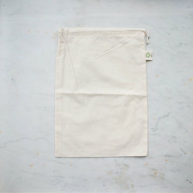 Organic Cotton Produce Bag - Medium-Home & Garden > Household Supplies > Storage & Organization > Household Storage Bags-Eqo Online