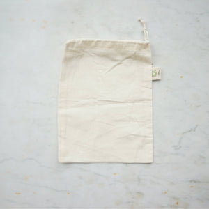 Organic Cotton Produce Bag - Small-Home & Garden > Household Supplies > Storage & Organization > Household Storage Bags-Eqo Online