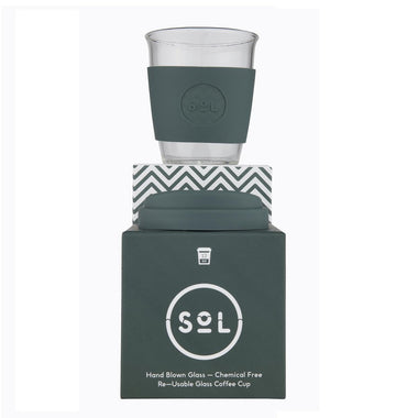 Sol Cup - Reusable Glass Coffee Cup - 12oz-Home & Garden > Kitchen & Dining > Tableware > Drinkware > Coffee & Tea Cups-Eqo Online