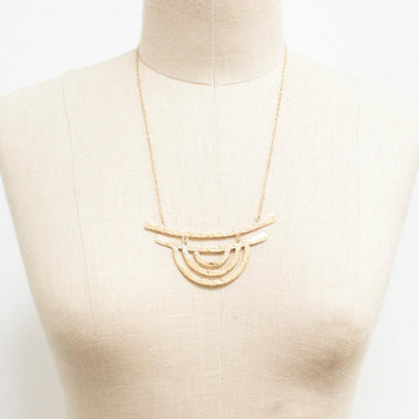 Tri Crescent Necklace-Apparel & Accessories > Jewelry-Eqo Online