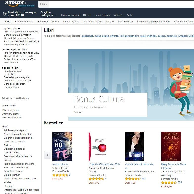 d0cfcd5ecb9e Amazon libri sottocategorie
