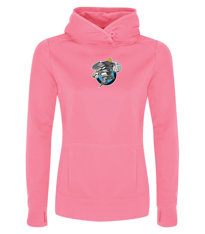 STORM GAME DAY FLEECE HOODED LADIES' SWEATSHIRT PINK SHIELD LOGO