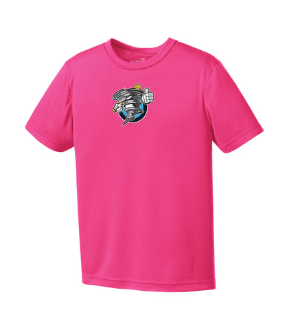 STORM PRO TEAM YOUTH TEE SHIELD LOGO PINK