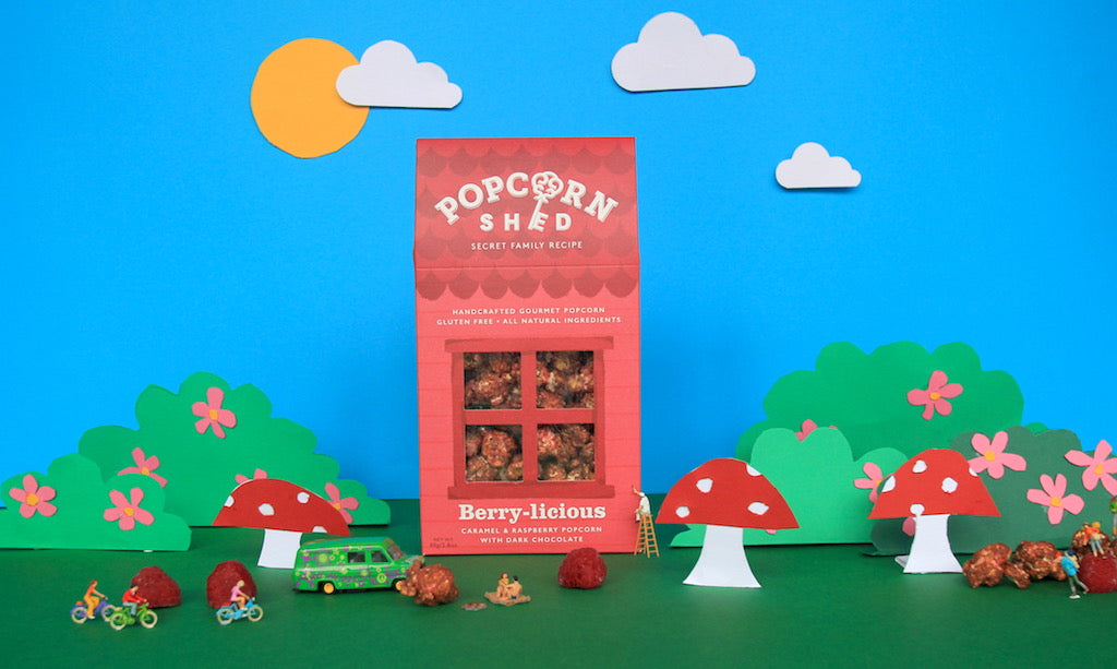 Berry-licious Gourmet Popcorn Shed