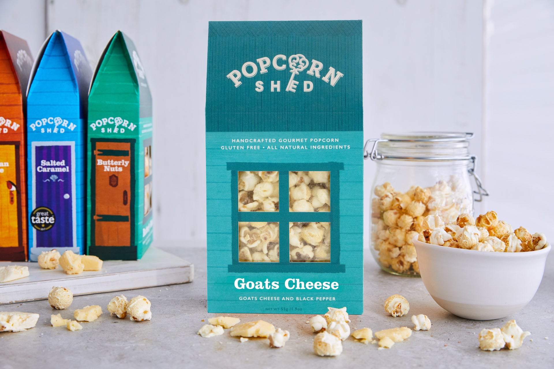 Goats Cheese and Black Pepper Gourmet Popcorn