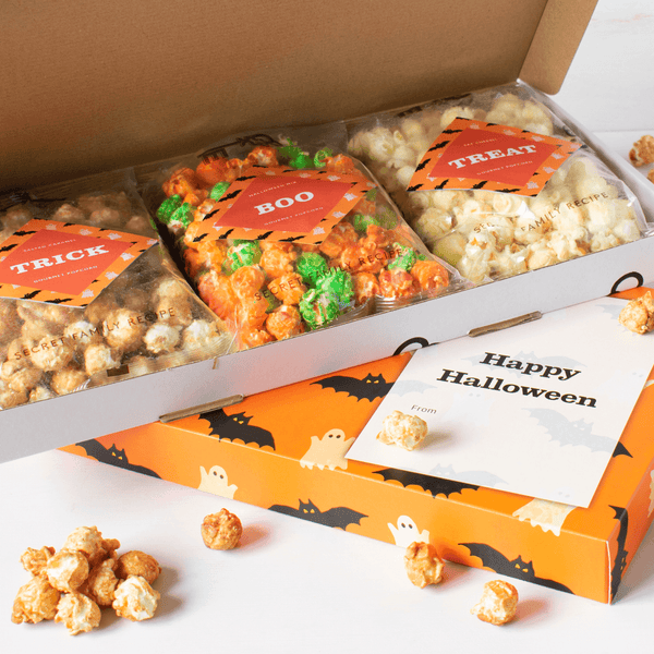 Happy Halloween Letterbox Gift filled with Gourmet Popcorn