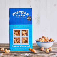 Salted Caramel Gourmet Popcorn with Belgian Milk Chocolate
