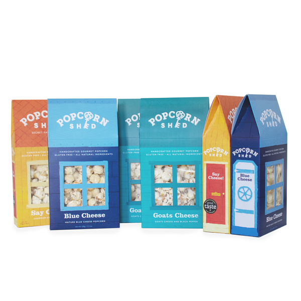 Three Cheese Popcorn Bundle 6 Pack - Popcorn Shed Gourmet Popcorn Gifts