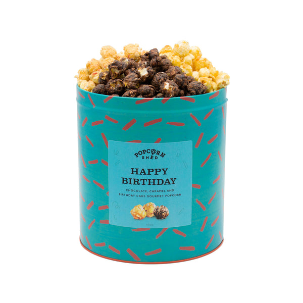 Happy Birthday Popcorn Gift Tin - Popcorn Shed Gourmet Popcorn Gifts
