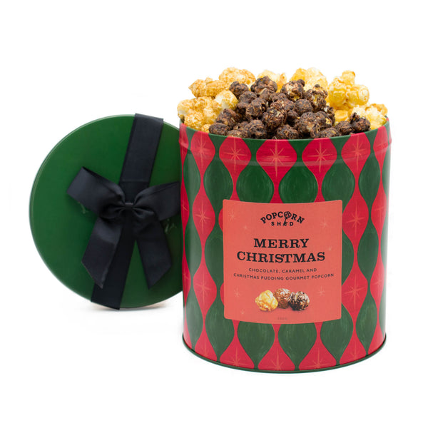 Merry Christmas Popcorn Gift Tin - Popcorn Shed Gourmet Popcorn Gifts