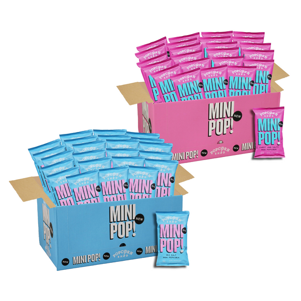 Sweet & Salty and Sea Salted Vegan Mini Pop! Case Bundle - Popcorn Shed