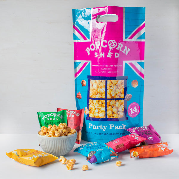 Party Pack - Variety Pack containing 14 x individual bags - Popcorn Shed