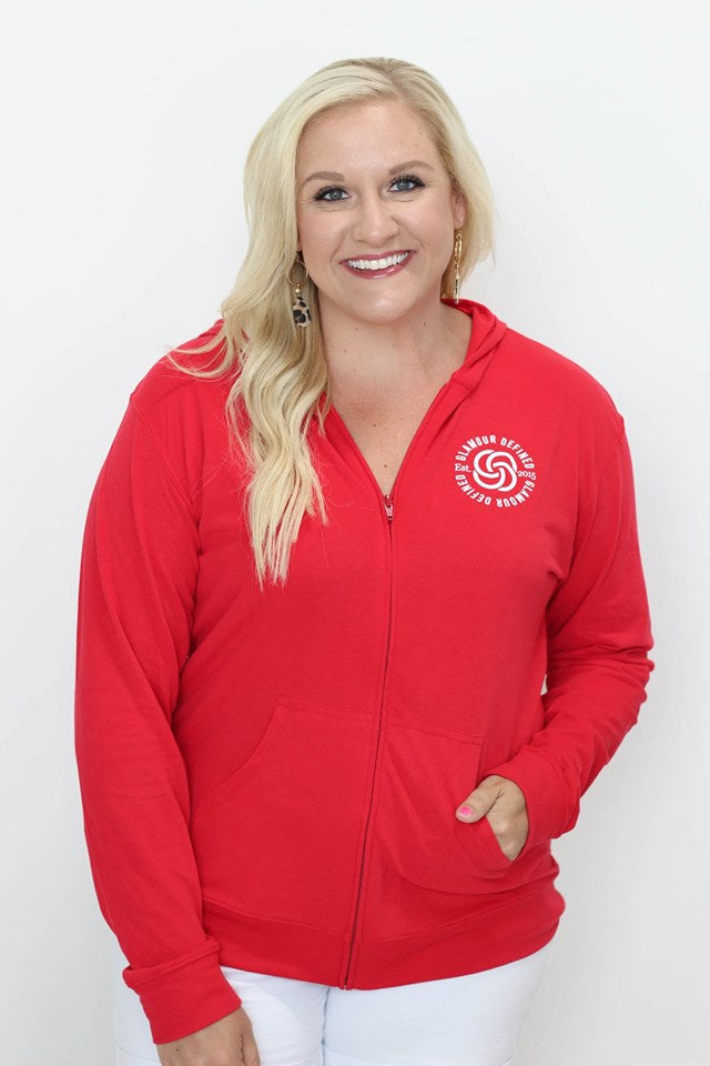 Red Glamour Defined Hoodie