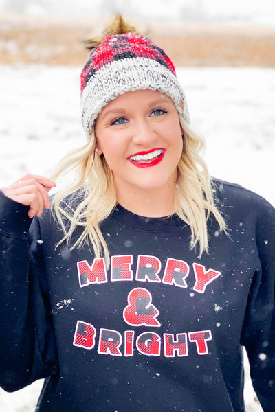 Merry & Bright Buffalo Plaid Pullover