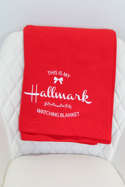 This is my hallmark watching blanket