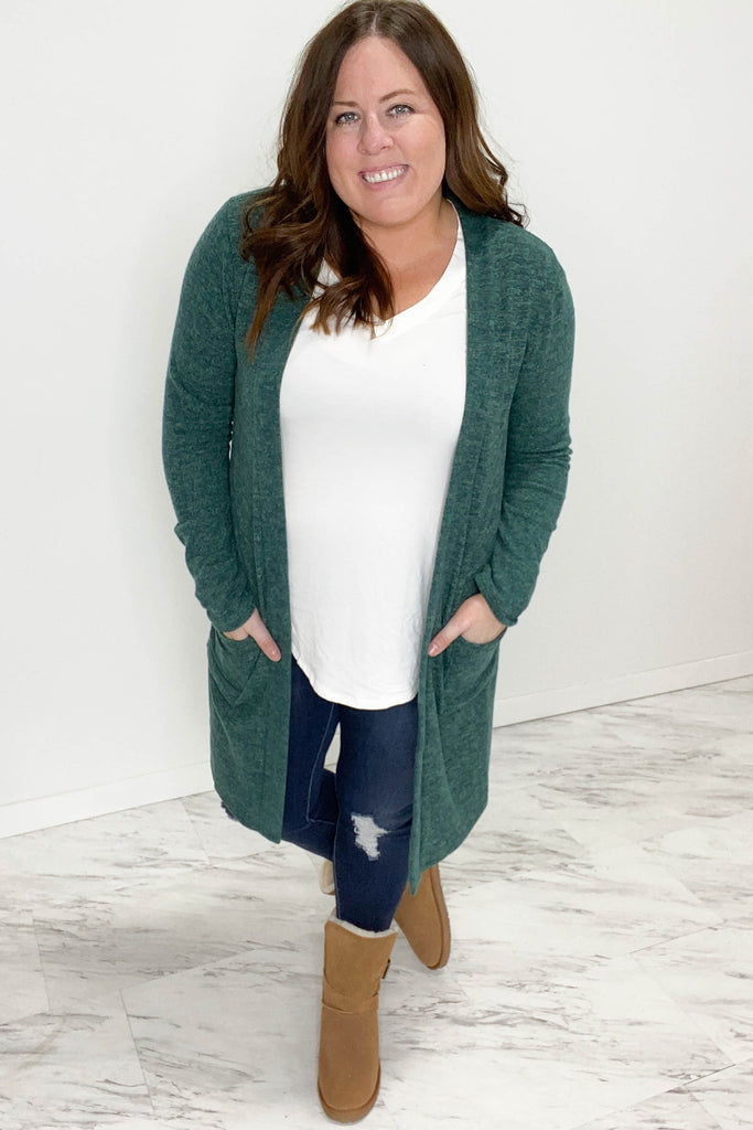 Everyday Emerald Green Duster Cardigan