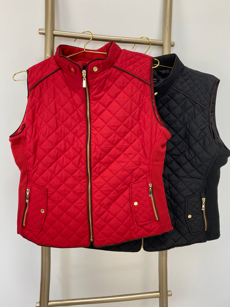 Layered Up Quilted Vest