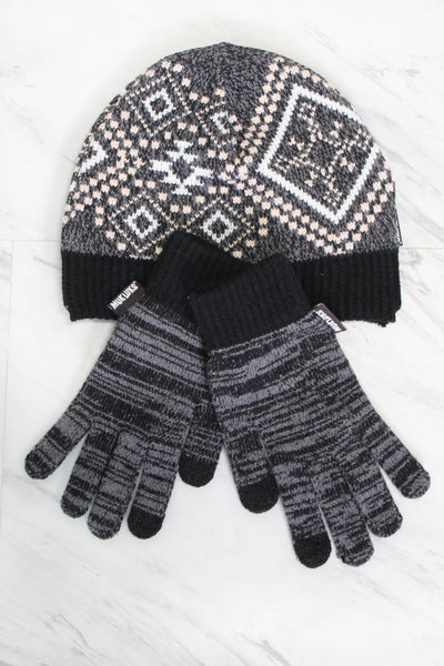 Muk Luk Hat & Glove Set - Black