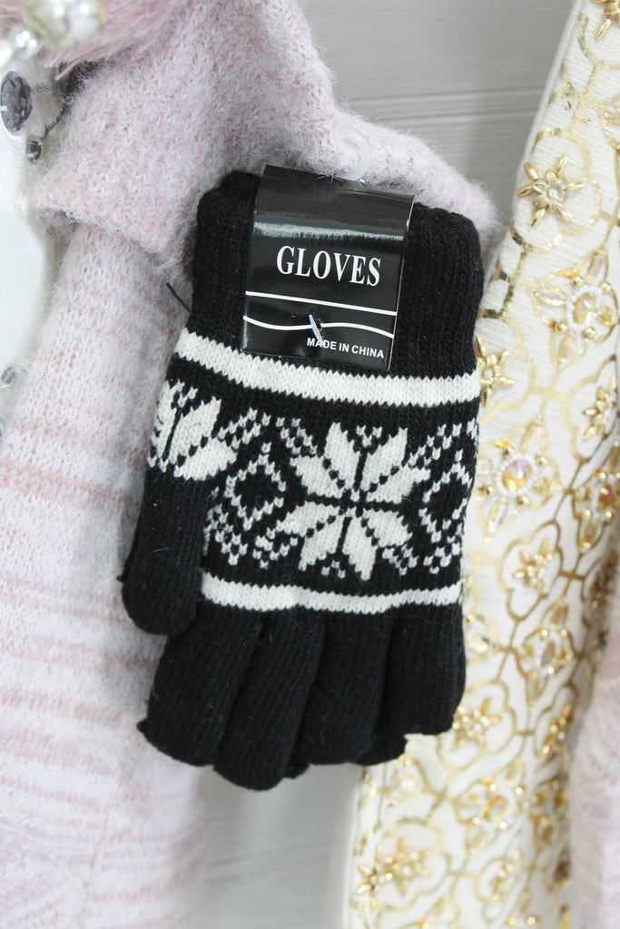 SNOWFLAKE SWEATER GLOVES