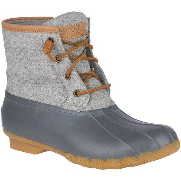 Sperry Embossed Grey & Tan Duck Boot
