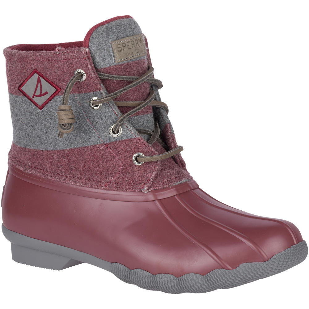 Spery Saltwater Wine & Grey Duck Boot