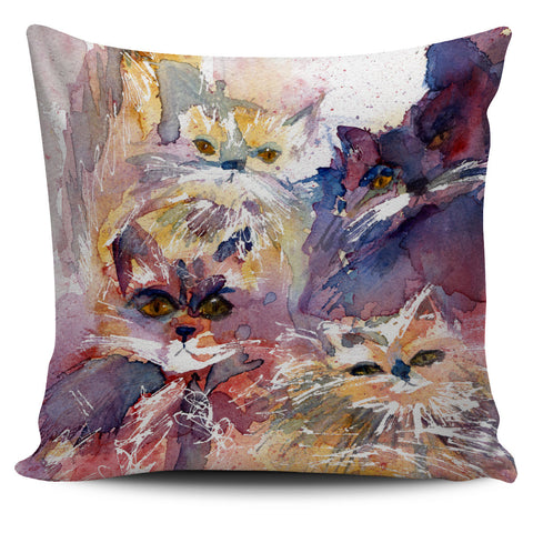 Four Cat Pillow