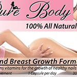 PureBody Vitamins - The #1 Butt and Breast Growth Pills - All-In-One Formula - 30 Capsules