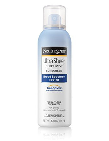 Neutrogena Ultra Sheer Sunscreen Body Mist, SPF 70