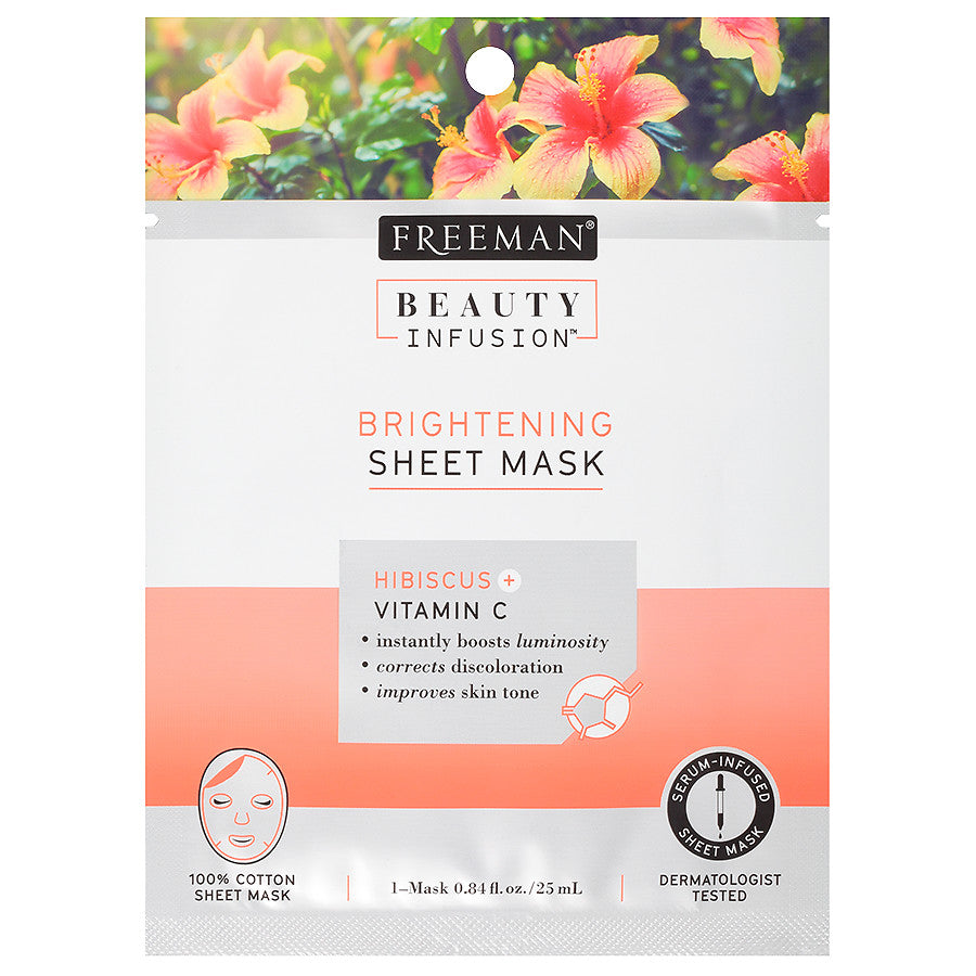 Beauty Infusion BRIGHTENING Hibiscus & Vitamin C Sheet Mask