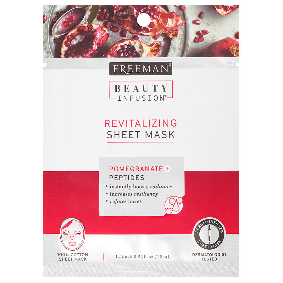 Beauty Infusion REVITALIZING Pomegranate & Peptides Sheet Mask