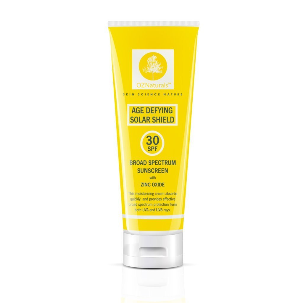 Age Defying Solar Shield 30 SPF Broad Spectrum Sunscreen with Zinc Oxide