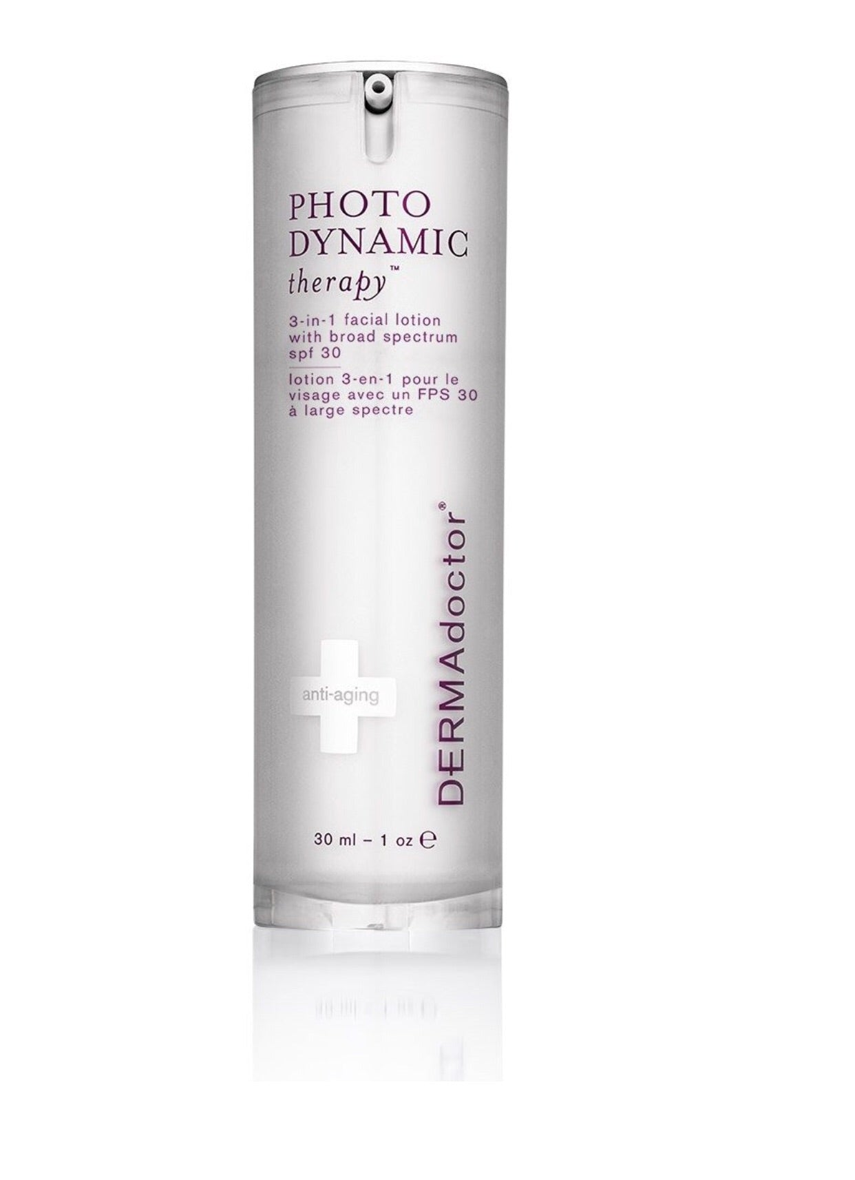 DERMAdoctor Photodynamic Therapy 3-in-1 facial lotion with broad spectrum spf 30, 30 ml - AmericanShop ByHanan