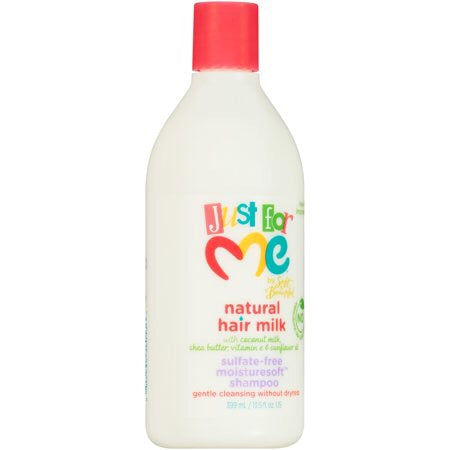 Just for Me Natural Hair Milk Sulfate-Free Moisturesoft Shampoo 13.5 fl. oz. Bottle