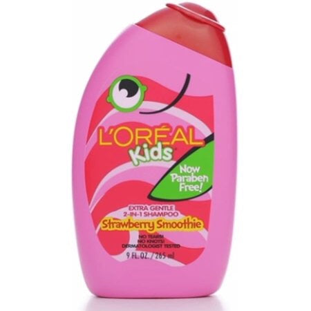 L'Oreal Kids Strawberry Smoothie Extra Gentle 2-in-1 Shampoo, 9 fl oz