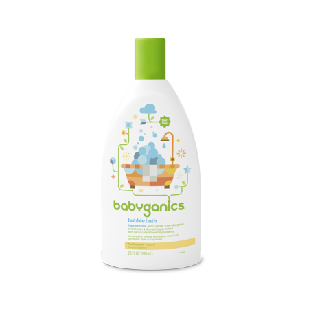 BabyGanics - Bubble Bath Fragrance Free - 20 oz.