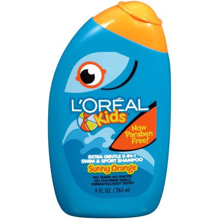 L'Oreal Paris Kids 2-in-1 Extra Gentle Shampoo, Splash of Sunny Orange, 9 Fl oz
