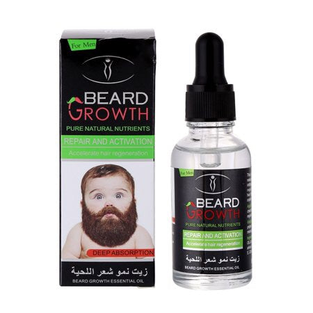 100% Natural Organic Beard Growth Oil Beard Care Profession EU&US Men Beard Care Oil For Beard Growth Male Hair Care