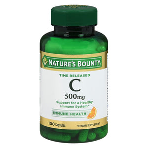 Nature's Bounty Vitamin C-500mg, Capsules