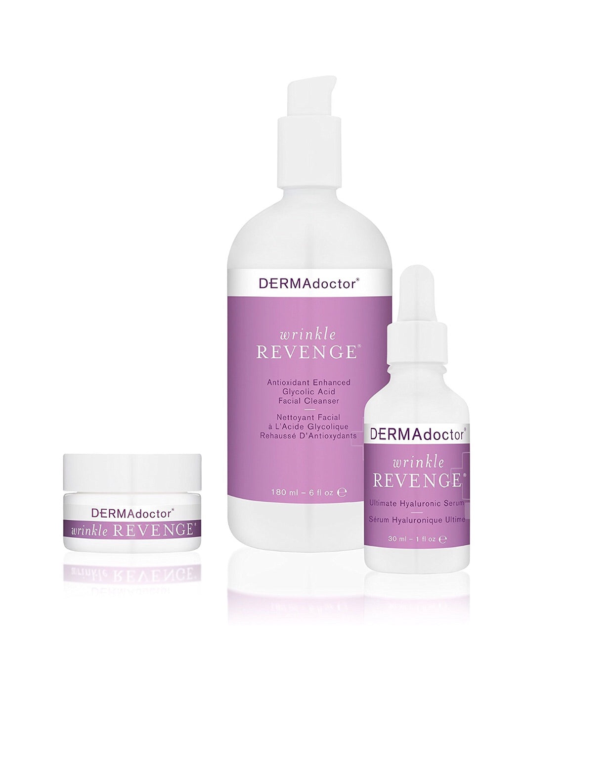 DERMAdoctor Wrinkle Revenge Cleanser, Serum & Eye Trio