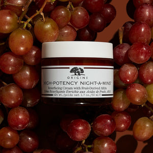 HIGH-POTENCY NIGHT-A-MINS™ RESURFACING CREAM WITH FRUIT-DERIVED AHAS