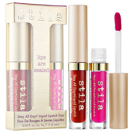 stila Lips Are Sealed Stay All Day Liquid Lipstick Duo