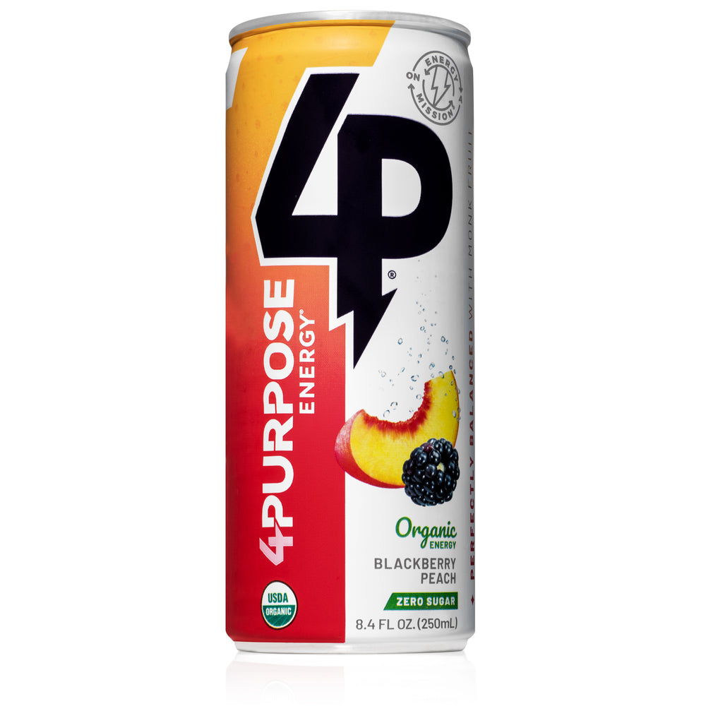 Blackberry Peach - Zero Sugar - Organic Energy Drinks