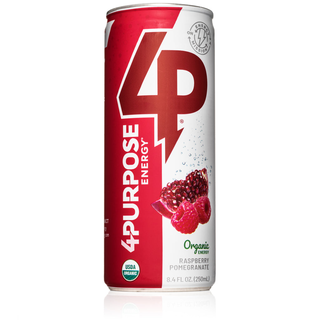 [Out of Stock - Orders Placed Will Be Fulfilled When New Batch Is Crafted in March/April] The 6 Pack - Raspberry Pomegranate Organic Energy Drink (6 Cans)