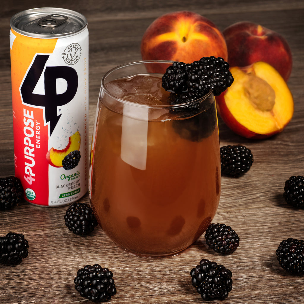 Blackberry Peach - Zero Sugar - Organic Energy Drinks [May/June Delivery]
