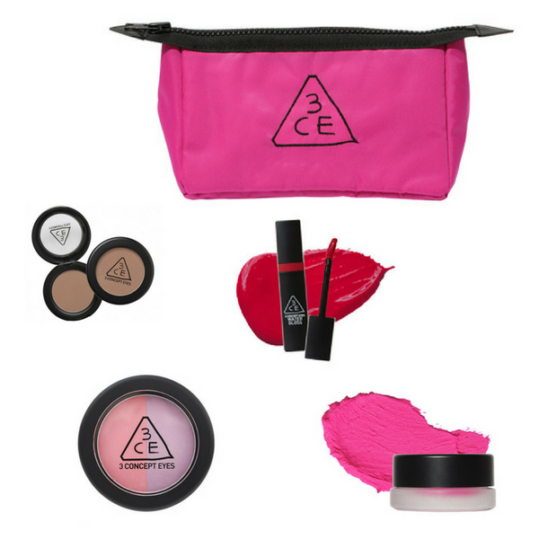 3CE Small Pouch 5-Piece Lucky Set
